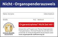 Bild Nicht-Organspenderausweis