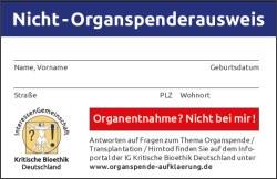 Nicht-Organspenderausweis