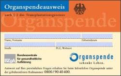 Bild Organspendeausweis