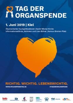 Plakat Tag der Organspende 2019